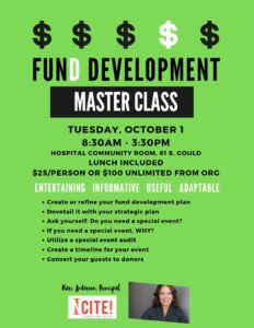 Fund Development Master Class @ Hospital Community Room